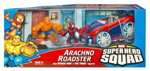 Super hero Squad Squad Cruisers: Arachno Roadster - Spider-Man and Thing