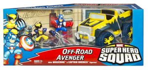 Super Hero Squad Squad Cruisers: Off-Road Avenger - Wolverine and Captain America