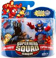 Super Hero Squad - Dark Surfer and Captain America