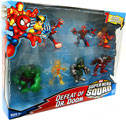 Super Hero Squad - 7-Pack Defeat Of Dr Doom - Volcana, Reptil, Falcon, Spider-Man, Hulk, Iron Man, Dr Doom