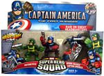 Super Hero Squad - Raid On Enemy Headquarters - Captain America, Motorcycle, Hydra Soldier