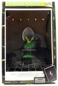 MCFARLANE 3D MOVIE POSTER ALIEN