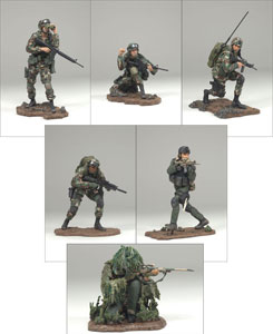 3-Inch Series 2 Military Soldiers Set of 6