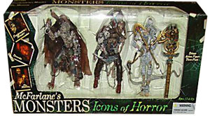 MCFARLANE MONSTERS ICONS OF HORROR 3-PACK