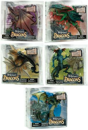 Mcfarlane Dragon Series 5 Set of 5