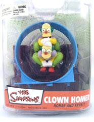 Clown Homer (Homer and Krusty)