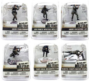 3-Inch Mcfarlane Military Soldiers Series 1 Set of 6