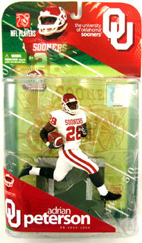 Adrian Peterson - University of Oklahoma Sooners - White Jersey Variant