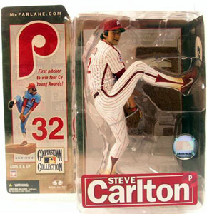 Cooperstown - Steve Carlton Pinstripe White Jersey Variant