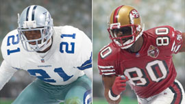 Deion Sanders - Cowboys and Jerry Rice 2 - 49ers