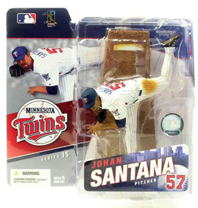JOHAN SANTANA - Twins - Minor Shelf Wear