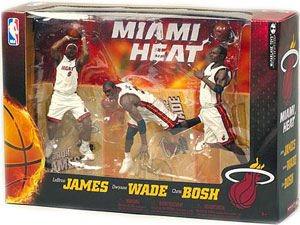 NBA Miami Heat 3-Pack - Lebron, Bosh, Wade