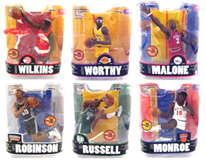 NBA Legends Series 3 Set of 6