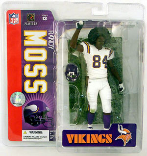 Randy Moss 3 - Afro Viking White Jersey Variant