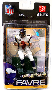 NFL Series 23 - Brett Favre - Vikings - White Jersey Variant Bronze Collector Level