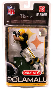 NFL Series 25 - Troy Polamalu - Steelers Exclusive Black Jersey Retro Uniform