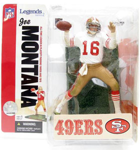 NFL Legends Series 2 - Joe Montana White Jersery Variant - 49ers