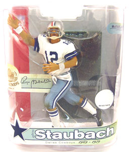 NFL Legends Series 3 - Roger Staubach Red Stripe on Helmet Variant - Dallas Cowboys