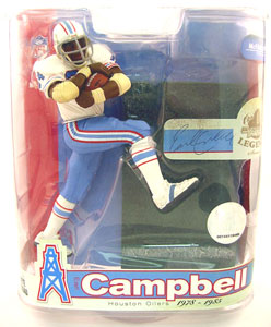 NFL Legends Series 3 - Earl Campbell White Jersey Variant - Houston Oilers