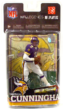 NFL Legends 6 - Randall Cunningham Purple Jersey Silver Collector