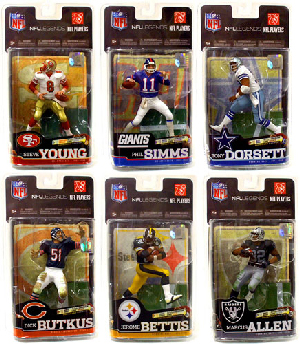 Mcfarlane Sports NFL Legends Series 6 Set of 6