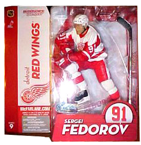 Sergei Fedorov White Jersey Red Wing Variant