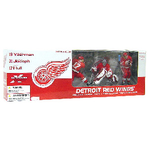 Detroit Red Wings 3 Pack Yzerman, Joseph, Hull - Red Jersey Variant