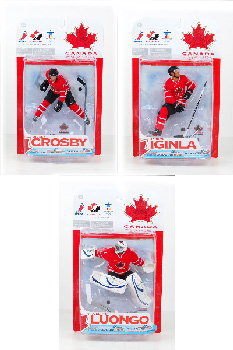 NHL Team Canada 2010 - Set of 3[Crosby,Iginla,Luongo]
