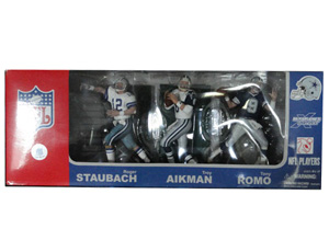 NFL The Dallas Cowboys Quarterback 3-pack: Roger Staubach, Troy Aikman, and Tony Romo