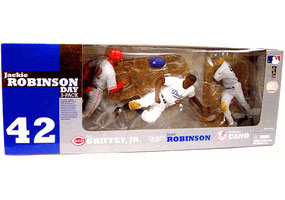 Jackie Robinson Day 3-Pack: Jackie Robinson[Dogers], Robinson Cano[Yankees], Ken Grifey Jr[Reds]