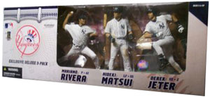 MLB New York Yankees 3-Pack Exclusive[Rivera,Matsui,Jeter]