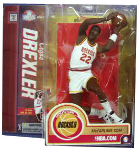 Clyde -The Glide- Drexler Houston Rockets White Jersey Variant