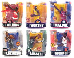 NBA Legends Series 3 Set of 6