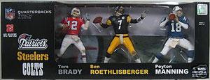 NFL 3 Elite Quarterbacks - Brady, Roethlisberger, Manning