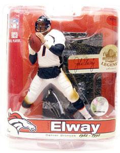 NFL Legends Series 3 - John Elway 2 - Denver Broncos -  White Jersey Variant