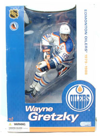 12-Inch Wayne Gretzky Edmonton Oilers White Jersey