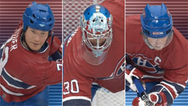 NHL 3-Pack: Montreal Canadiens - Saku Koivu, Michael Ryder, and David Aebischer