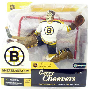 Gerry Cheevers White Jersey Variant