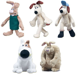 Wallace & Gromit Plush Set of 5