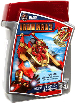Mega Bloks -  Iron Man Jet-Boat Pursuit 91235