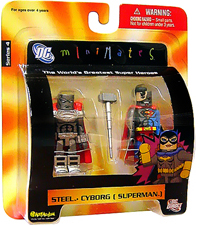 DC Minimates - Steel and Cyborg Superman