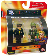 DC Minimates - Blackhawk and SGT Rock