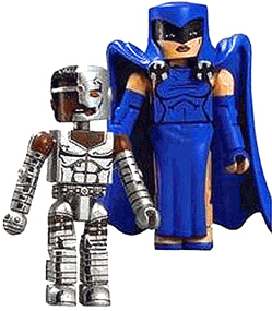 DC Minimates - Cyborg and Raven