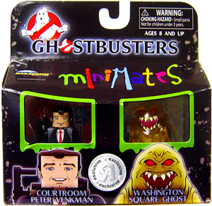 Ghostbusters Minimates - 2-Pack - Courtroom Peter Venkman and Washington Square Ghost