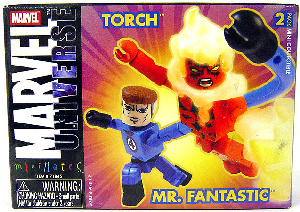 Marvel Minimates - Mr Fantastic and Human Torch