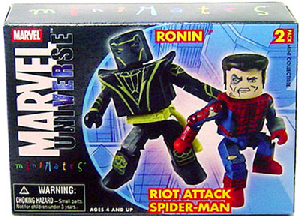 Marvel Minimates - Ronin and Riot Attack Spider-Man