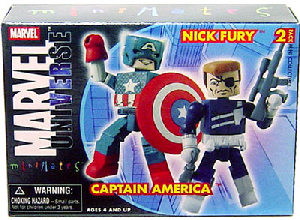 Marvel Minimates - Captain America and Nick Fury