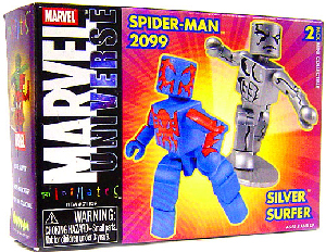 Marvel Minimates - Spider-Man 2099 and Silver Surfer
