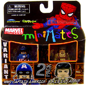 Marvel Minimates - Ultimate WW2 Captain America Variant and Shield Agent
