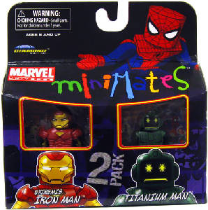 Marvel Minimates - Extremis Iron Man and Titanium Man